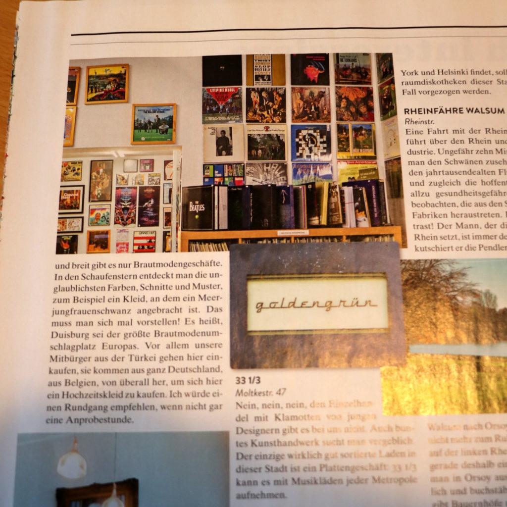 Tom Liwa über das Kult-Schallplattengeschäft in Duisburg