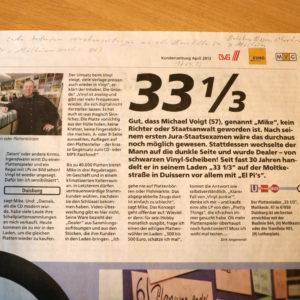 33 1/3 Schallplatten in der Presse